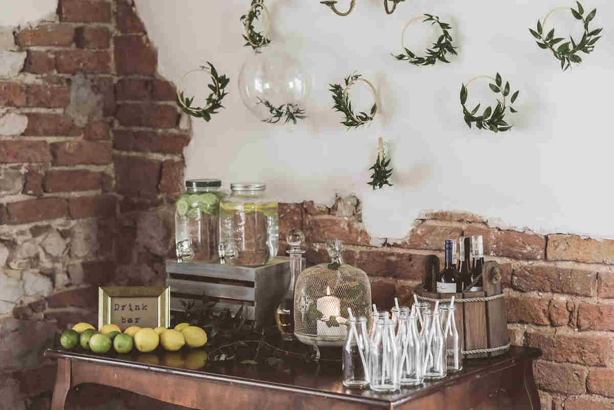 poczlaczenie-szkla-zieleni-dekoracje-slub