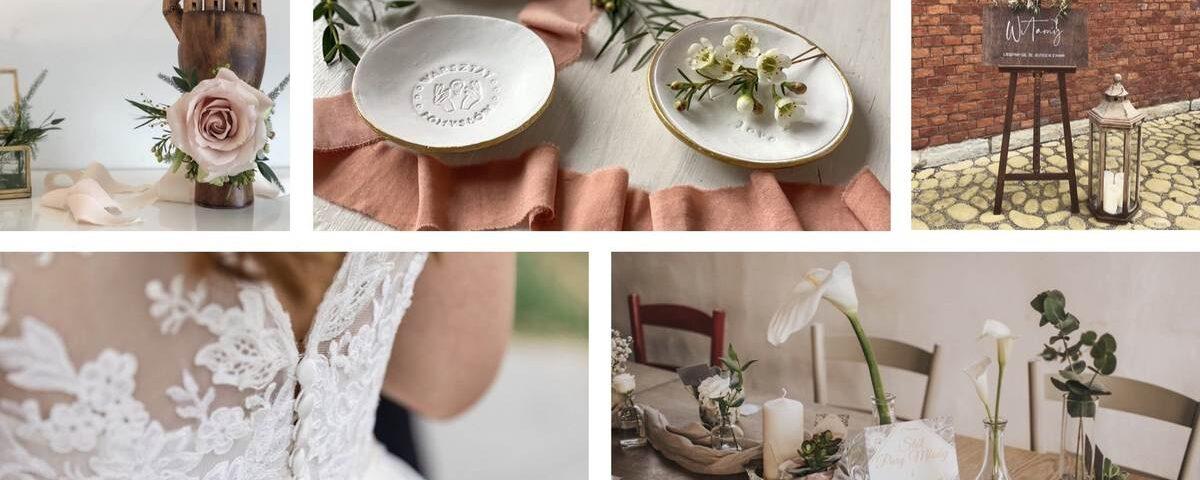 zdjęcie z elementami dekoracyjnymi na weselu