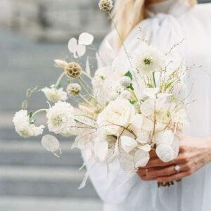 polno-biały bukiet ślubny