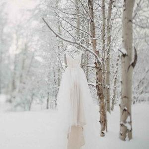 suknia ślubna w zimę