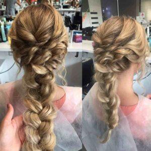 warkocz z długich włosów