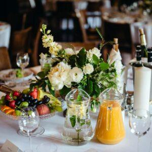 greenery dekoracja na stół