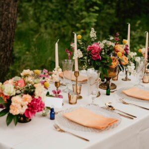 dekoracja stołu na weselu