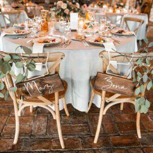 dekoracja krzeseł pary młodej